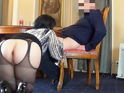 Horny Anal Mom - Amateur fat ass wife in hardcore with cumshot