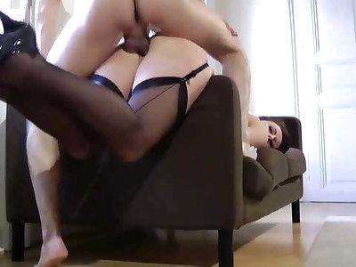 British mature in stockings being fucked