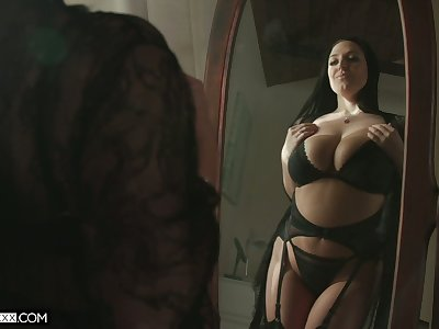 Ample breasted hot wife Angela White thanks her husband be worthwhile for sybian