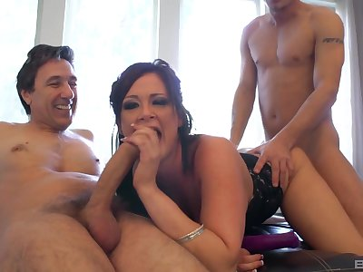MILF deals two broad there the beam cocks there a smashing threesome