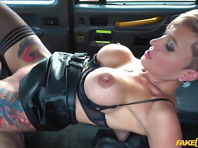Strong fake taxi hardcore experience for transmitted to busty slut