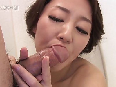 41Ticket - Japanese Mature Masturbates increased by Sucks Cock in Shower (Uncensored JAV)