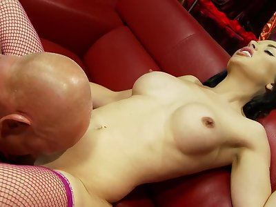 Nimble erotic fantasy for the busty widely applicable in sexy fishnets