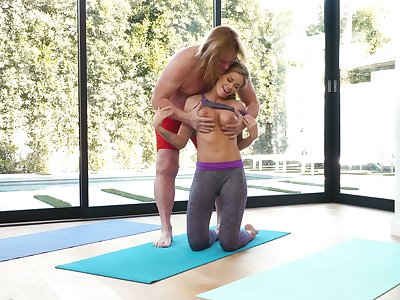 First time fucking during their work out, together with the wife loves moneyed