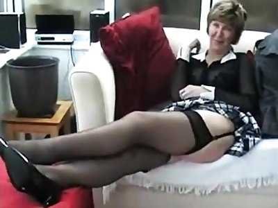Mature solitarily brit hoe nearly stockings