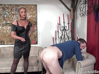 Sexy wife Kayley Gunner gets fucked hard wits two black dudes