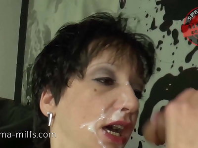 Dirty Cum Cum Strip Be expeditious for Nasty Sperma-Milf Kira