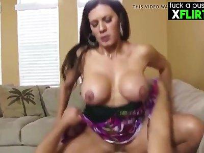 Busty Peaches Mom & Son - Blowjob