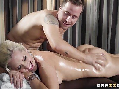 Alena Croft's hot body comes alive during erotic massage