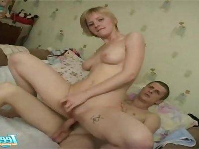 Blonde euro mom nailed nailed hard by son friend - bush-leaguer hardcore